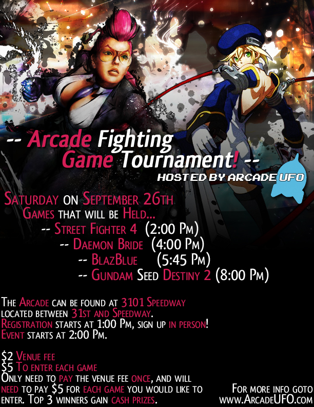 Arcade UFO Tournament Flyer